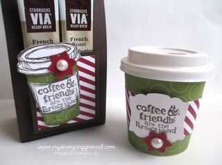 Mini Coffee Cup & Holder Tutorial - My Stamping Ground
