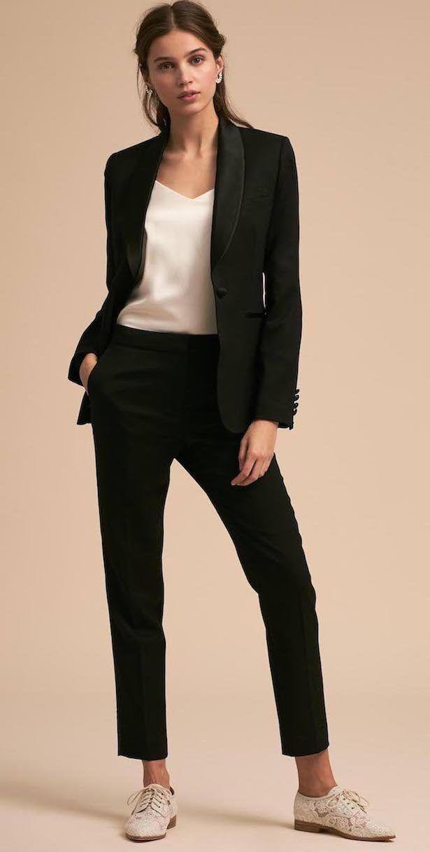 9aad3644c24 Women Wedding Tuxedo by The Black Tux #tuxedo #bridetobe #bride  #fashionistas #weddings #bridal #styleinspiration #weddinginspiration