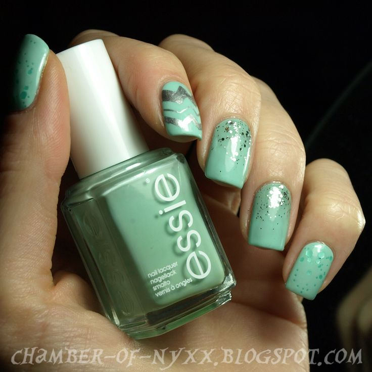 Chamber of Nyxx: [NOTD] essie ~ mint candy apple & Freunde