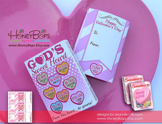 valentine sweethearts candy wrapper digital pdf file only non personalized instant download item