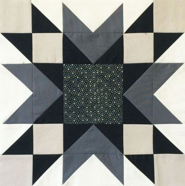 Hi all! It's Christa here from Christa Quilts and I'm delighted to share my 12″ finished block for The Bee Hive with you today! It's called Double Star and looks equally striking in black and white or color. Here's what the quilt layout looks like when the block is repeated. I just love the secondary …