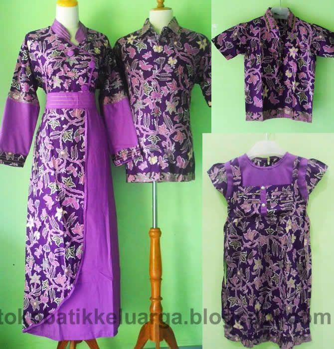 gamis batik sarimbit keluarga muslim ungu modern SK24 di toko baju batik online http://tokobatikkeluarga.blogspot.com/