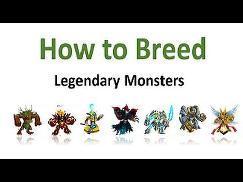 How To Breed Legendary Monsters In Monster Legends (Combinations) Complete - YouTube