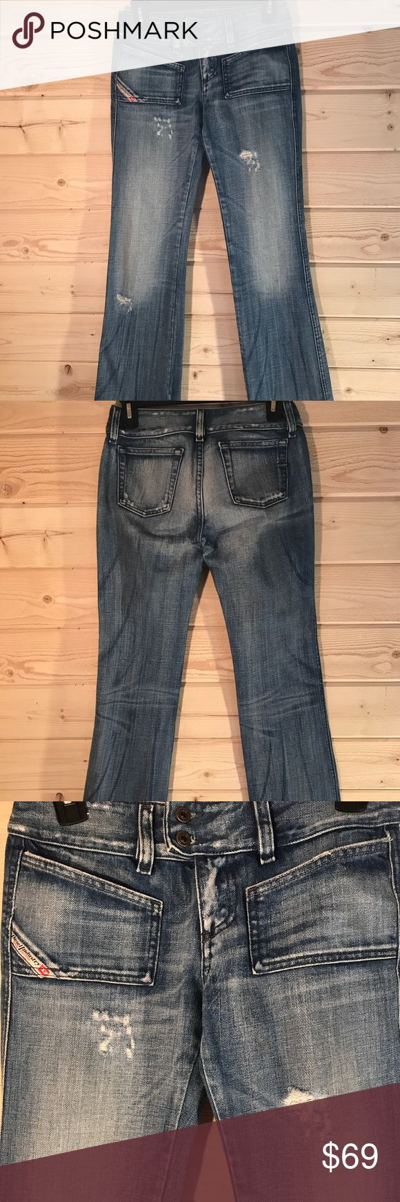 Diesel Industry Hush Destroyed Jeans See photos for distressed areas. Thick quality Denim. 100% cotton. Diesel Jeans