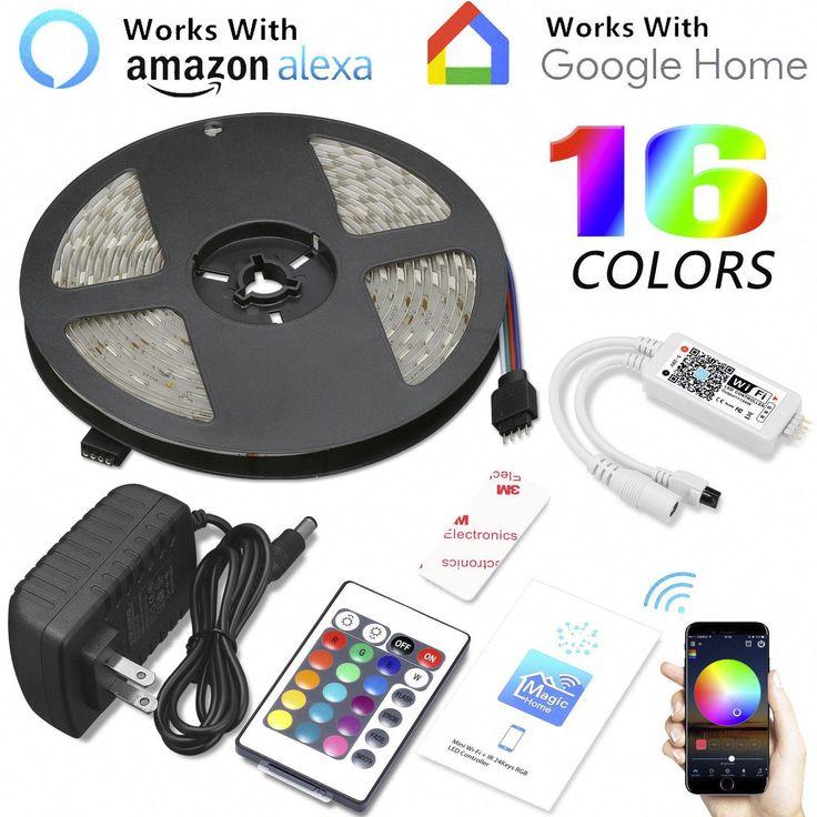 16.4ft 150LED Alexa Smart Home WIFI Wireless RGB