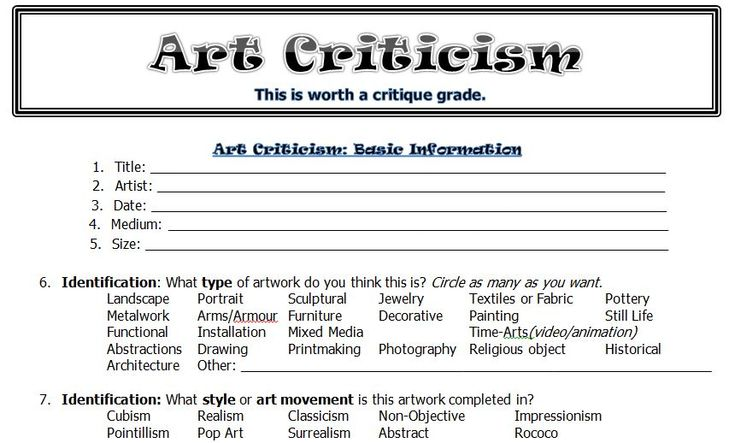 Best 25 Art Criticism Ideas On Pinterest Art Analysis