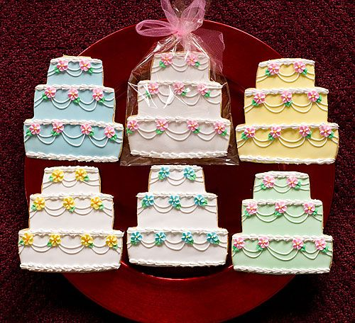 Fancy Wedding Cakes Decorated Sugar Cookies
