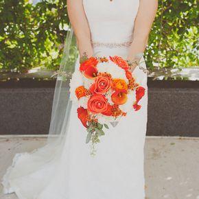 Burnt Orange Wedding Flower Arrangements