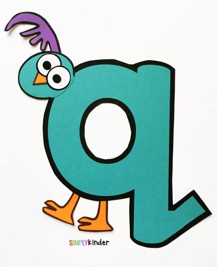 Alphabet Notebooks with Lower Case Alphabet Crafts and Printables - Letter Q Alphabet Craft