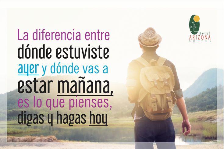 La diferencia entre dónde estuviste ayer y dónde vas a estar mañana es lo que pienses, digas y hagas hoy. #Cucuta #Colombia #FelizLunes
