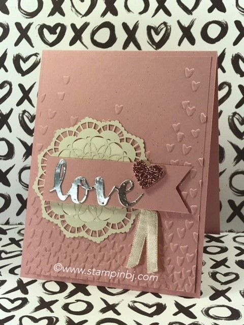 Check out the beautiful embellishments on this card. New Occasions products! #stampinbj.com