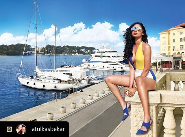 Toabh Model @priyanka_moodley_ shoots for #kingfishercalendar2018  Photographed by @atulkasbekar  #teamtoabh #toabh #toabhtalent #toabhmodel #toabhgirl #campaign #atulkasbekar  #Repost with @atulkasbekar @priyanka_moodley_ perches herself on the neighbouring balcony at the #ValamarParentino hotel in #Porec #croatia #kingfishercalendar shoot 2018. . Swimsuit:- Flirtatious Eyewear:- Ray-Ban Footwear:- Dune Timepiece:- the #scubatec from @carlfbucherer . . . .  #photography #photographer…