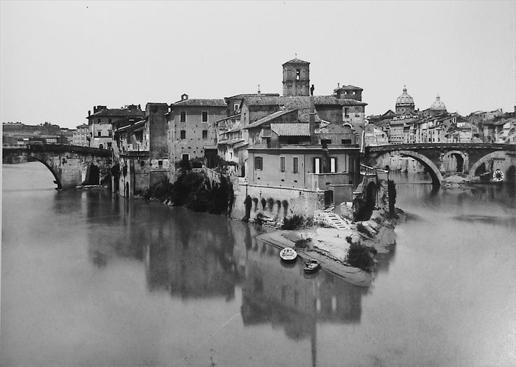Rome, Isola Tiberina, 1890