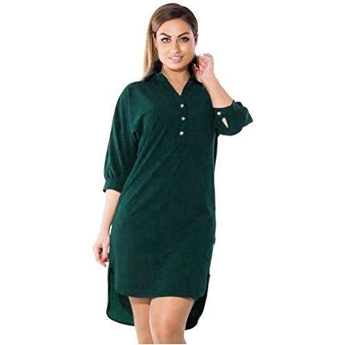 Oferta: 8.59€ Dto: -21%. Comprar Ofertas de Rcool Mujeres Vestido Tallas Grandes de V Cuello Manga Larga Casual Mini Dress Tops Túnica Kaftan Tops Camiseta Larga (XL, Ve barato. ¡Mira las ofertas!