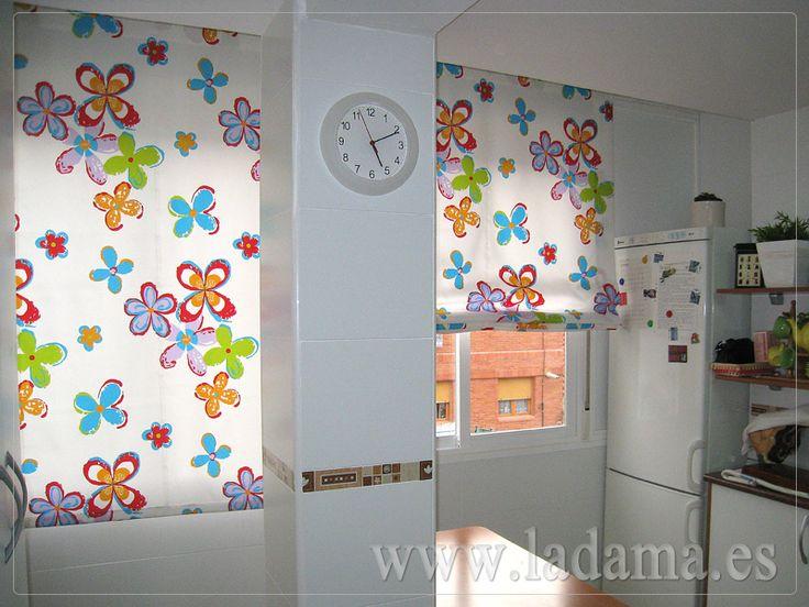 15 best cortinas cocina images on pinterest kitchens - Estores para cocina ...
