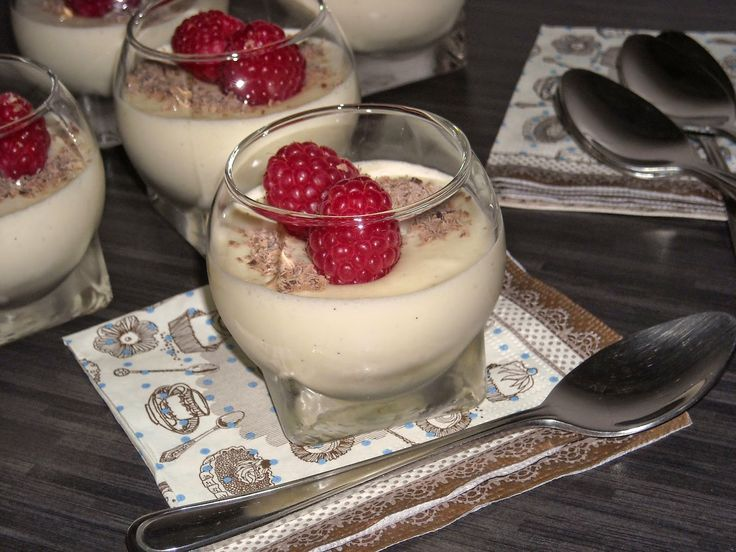 Witte chocolademousse