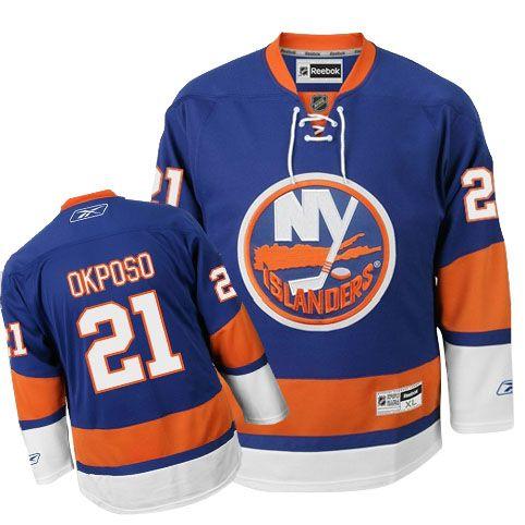 New York Islanders Kyle Okposo 21 Blue Authentic Jersey Sale