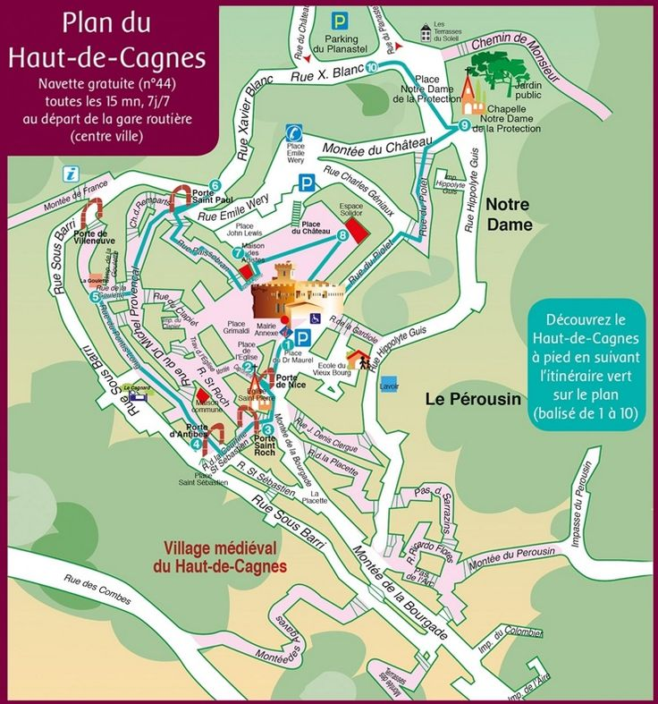 HautdeCagnes map Maps Pinterest France and City