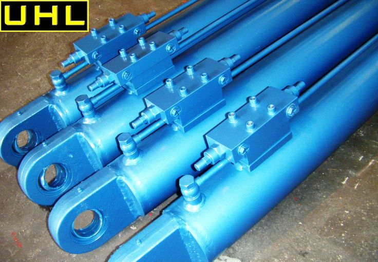 UHL offer a range of standard (2/3 days delivery) and special hydraulic cylinders fitted with pipe work and valves such as OM double PO checks or over centre valves as shown here. Call on 01246 451711 to find out more.