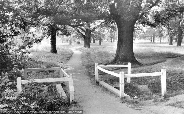 Hartley Wintney, On The Common c.1955, from Francis Frith