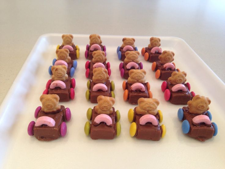 Tiny teady cars great for kids parties By me Bjs D'lites catering