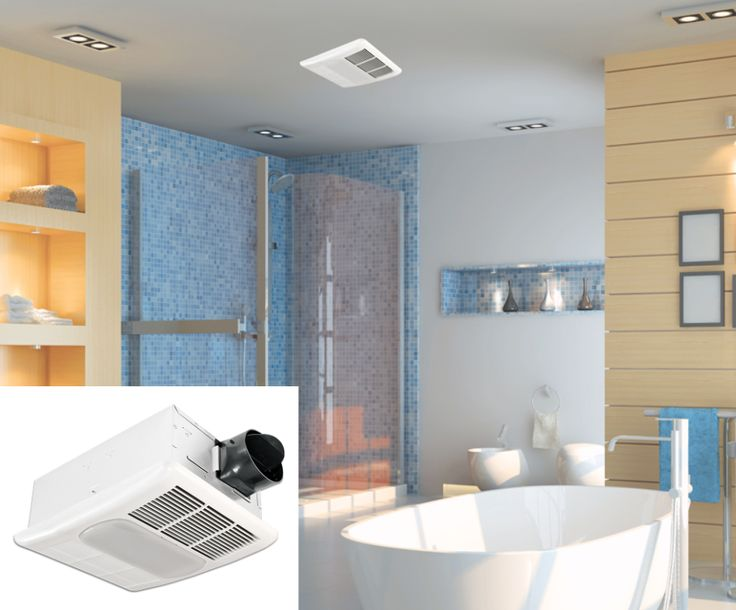The Delta BreezRadiance RAD80L combines a quiet bath fan, bathroom light and bathroom heater all in one with built-in thermostat and DC brushless motor for superior reliability and efficiency.