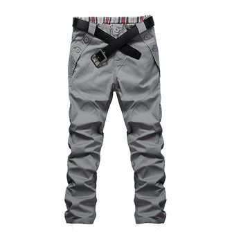 Fashionable Casual Men's Designed Straight Slim Fit Long Pants - US$14.77