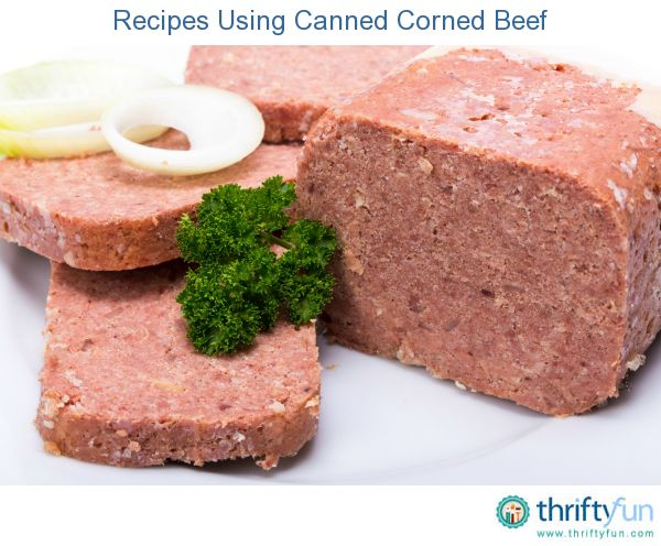 This page contains recipes using canned corned beef.  When making corned beef and cabbage, corned beef hash, or a ruben sandwich, it may be as easy as opening a can.