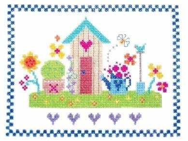 """Summertime (CSKST38)  Contemporary cross stitch kit designed by The Stitching Shed.  Contents: 14 count aida fabric, anchor threads, needle, chart and full instructions. (sampler kits also include relevant alphabet and number charts).  Size: 7.5"""" x 5.5"""".  RRP £16.00   *Usually dispatched within 5 working days*"""