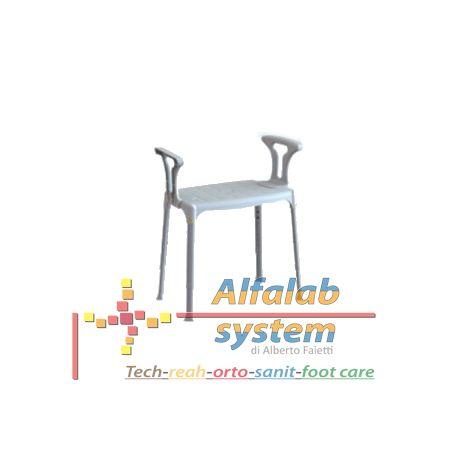 SEDIA DA DOCCIA CON BRACCIOLI -  60,00 € - Solo online: http://alfalabsystem.eu/bagno/156-sedia-da-doccia-con-braccioli.html - Codice  EH-SSA-PP-BX - Prodotto Nuovo - Realizzato per rendere piu confortevole l'uso dell'ambiente bagno in tutte le occasioni nelle quali occorre sedersi. Sedia da doccia con gambe telescopiche da 39 a 54 cm, seduta di 30 x 50 cm e braccioli, realizzata in tecnopolimeri e alluminio. - Dimensioni: 30 x 50 x 39 - 54 h cm