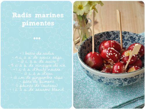 Petits radis marinés pour l'apéro!