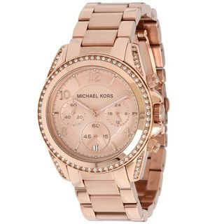 Michael Kors Women's MK5263 'Blair' Rose Gold-Tone Chronograph Watch | Overstock.com Shopping - Big Discounts on Michael Kors Women's Michael Kors Watches