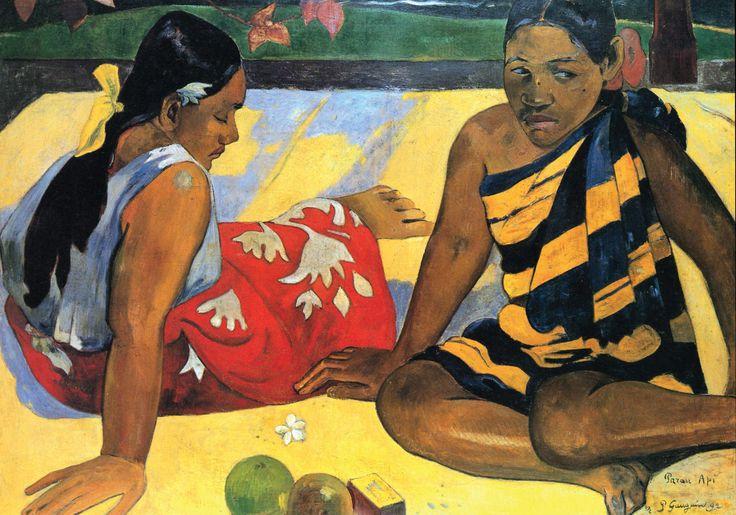 Parau api, Paul Gauguin, 1892