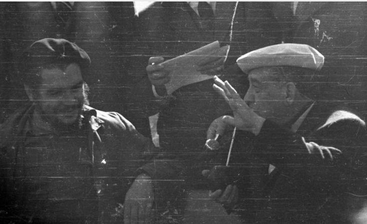 Che y Eduardo Víctor Haedo, Uruguay 1961. Haedo (1901-1970) fue un periodista, pintor y político uruguayo perteneciente al Partido Nacional, presidente del Consejo Nacional de Gobierno (Presidente de la República) entre el 1º/marzo 1961 y el 1º/marzo 1962. Foto El País https://www.elpais.com.uy/mundo/dia-che-guevara-visito-uruguay.html