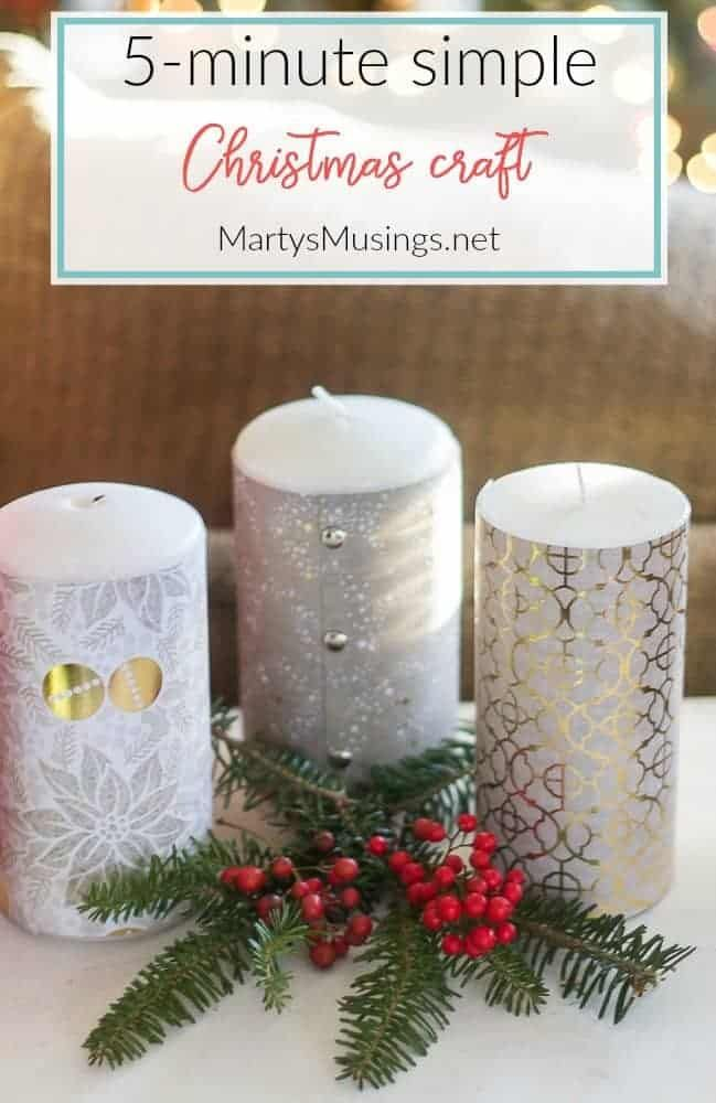 5 Minute Simple Christmas Craft with Scrapbook Paper