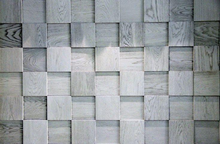 Мозаика и 3D панели из дерева Esse 1014 Квадраты шахматные светло-серые, купить | Esse