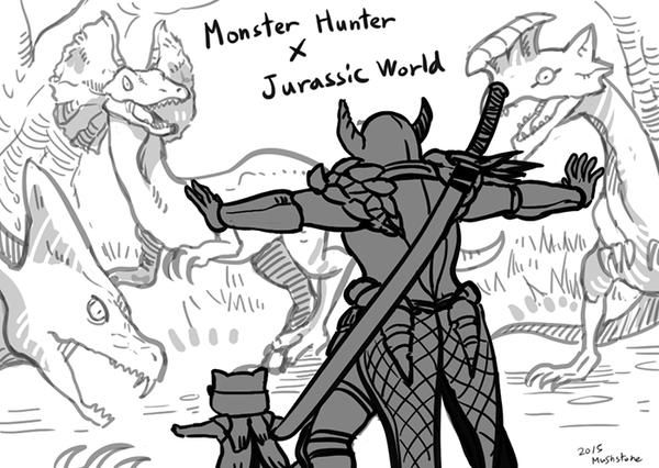 Monster hunter meets Jurassic world