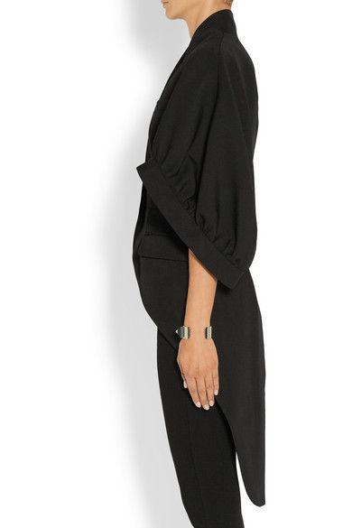Givenchy   Coat in black grain de poudre wool   NET-A-PORTER.COM