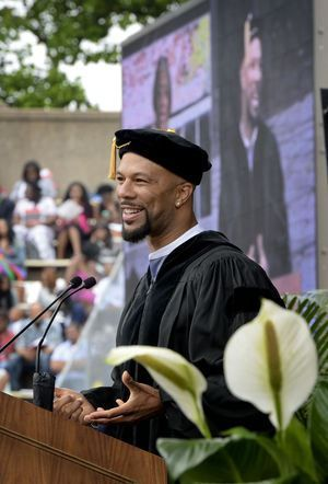 Common Delivers Commencement Speech, Receives Honorary Doctorate at Winston-Salem State University