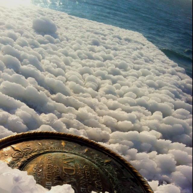 Molo Audace, #Trieste, ice on the sea...