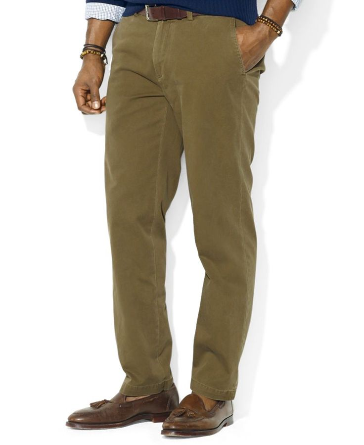 Polo Ralph Lauren Big and Tall Pants, Suffield Classic-Fit Flat-Front Chino Pants