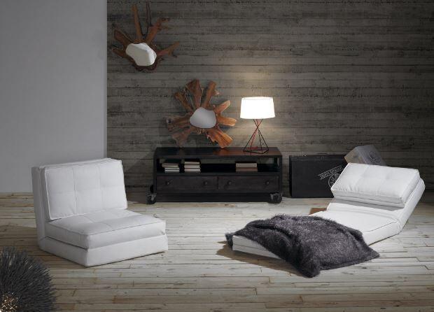 Lenestol/seng modell ZIP.  www.mirame.no #lenestol #seng #sovesofa #kunstskinn #hvit #møbler #stue #tvstue #gjesterom #sove #nettbutikk #butikk #mirame #interior #interiordesign #interiør #design #norsk #norge