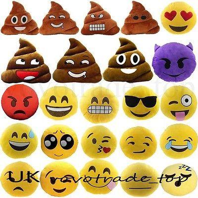 Mini Mignon Emoji Emoticône Coussin Caca Forme Oreiller Poupée Jouet Jeté