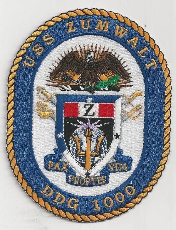 US NAVY PATCH - DDG 1000 USS ZUMWALT