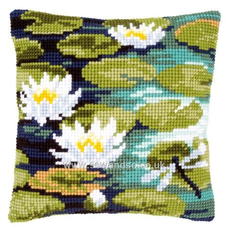 Water Lilies Cushion Front Chunky Cross Stitch Kit