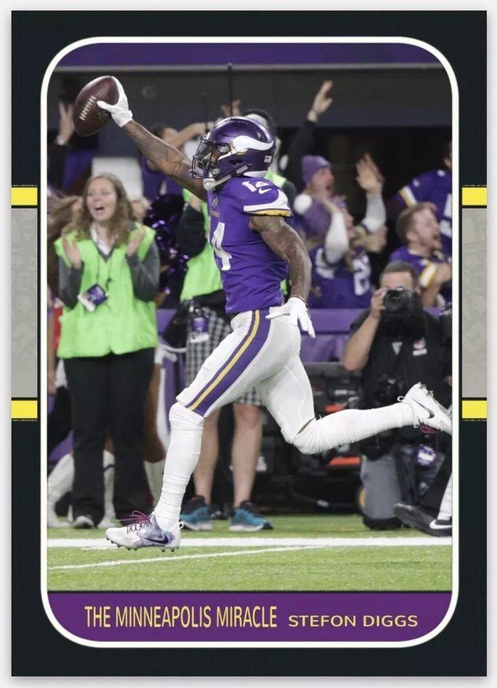 """bc8ee1ce 2018 Minnesota Vikings """"The Minneapolis Miracle"""" Football Card Nfc ..."""