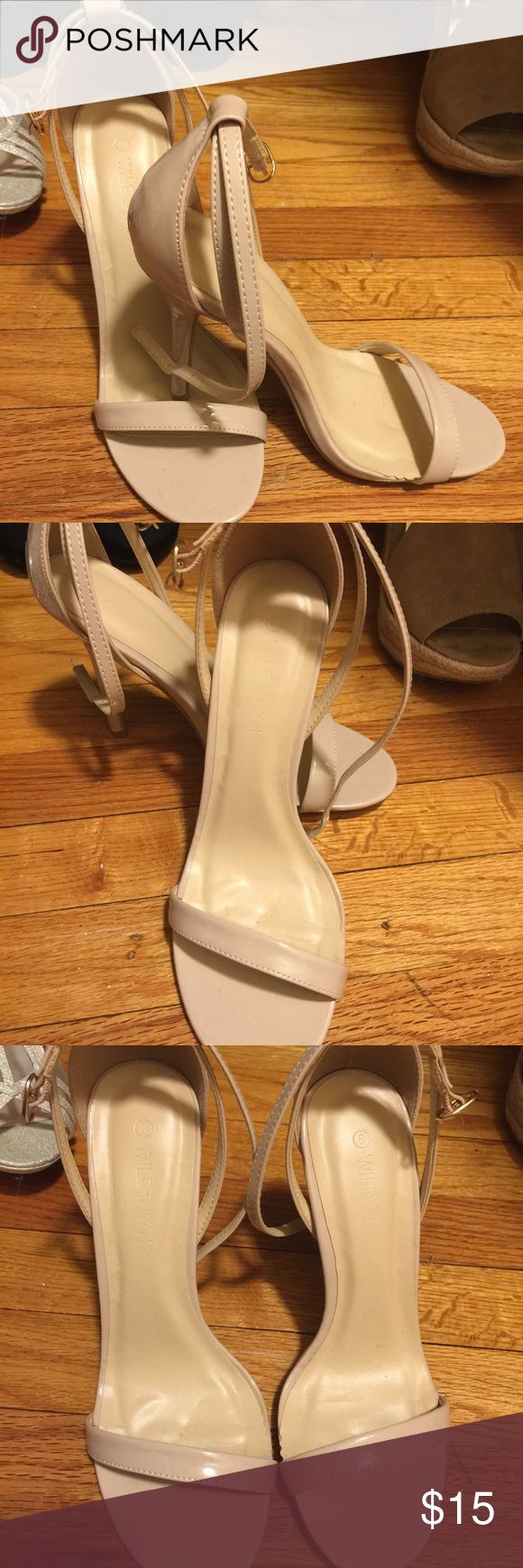 Beige strappy heels Worn once for a rehearsal dinner amazing condition 💃🏻👠😍👍🏻 Charlotte Russe Shoes Heels
