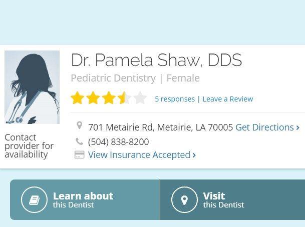 Visit Healthgrades for information on Dr. Pamela Shaw, DDS Find Phone & Address information, medical practice history, affiliated hospitals and more.  https://www.healthgrades.com/dentist/dr-pamela-shaw-x2y4w  #Pamela_Shaw