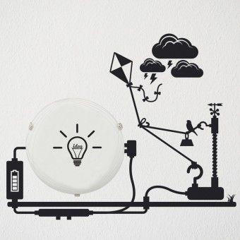 Plafoniera - Energie : Corpuri de iluminat - ★ http://stickere.net/stickere-creative/Corpuri-de-iluminat/plafoniera-energie