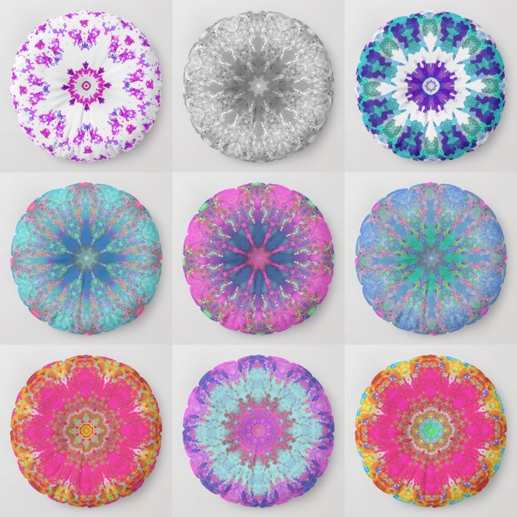 Relax in style with pillows in Mandala prints. #mandala #society6 #sboar #universe #trends #2018trends #pillow #pillows #medallion #space #floorpillow #ultraviolet #pink #mint #design #interior